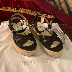 Jimmy choo Pepper wedges NEW